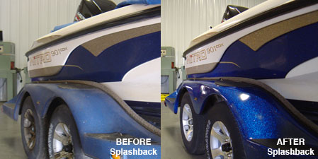 Splash Back Paint Restorer for boats and other vehicles
