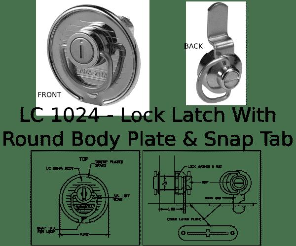 LC 1024 Lock Latch Marine Hardware