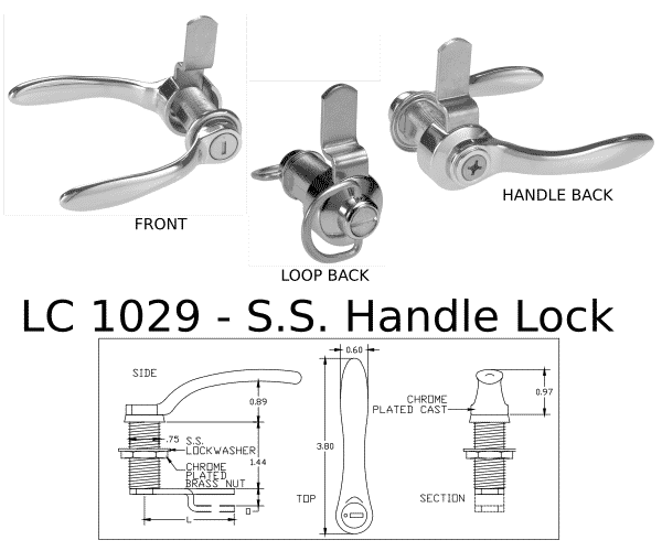 LC 1029 Handle Lock Marine hardware