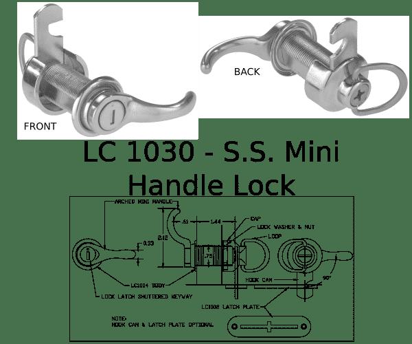 LC 1030 Handle Lock Marine Hardware