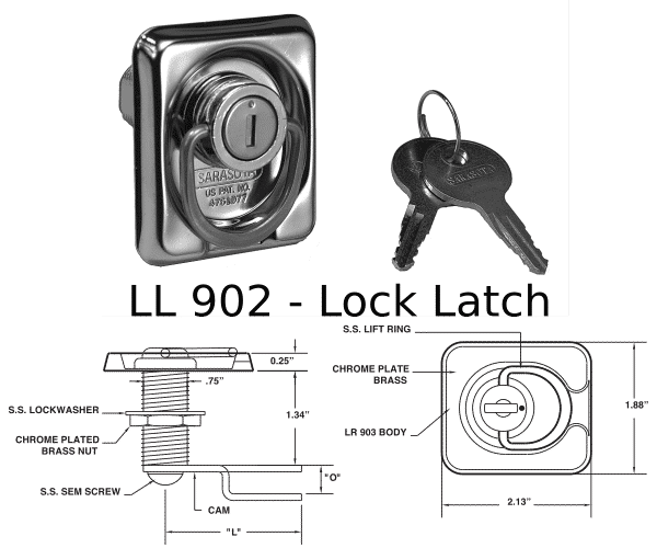 LL 902 Lock Latch Marine Hardware