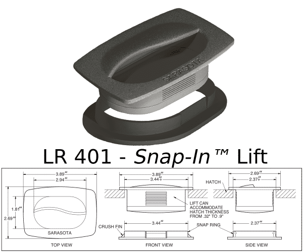 LR 401 Snap In Lift Marine Hardware