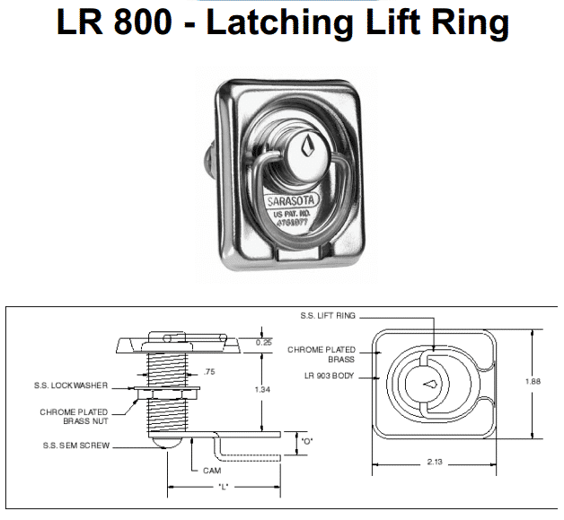 LR 800 - Latching Lift Ring